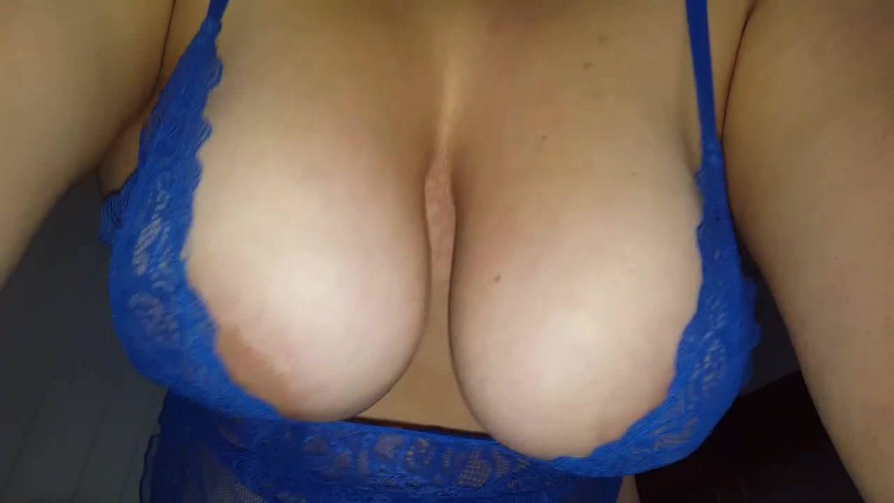 Wife's teasing with her big tits