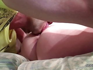 German Step-Bro Seduce stepsis to her First Fuck and Facial
