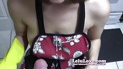 Lelu Love-Apron Rubber Glove Handjob