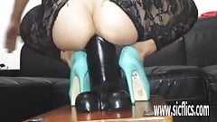Monster dildo fucking pussy destruction