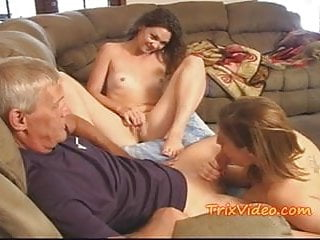 Fucking Teen step-daughter and a MILF