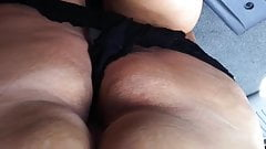 Big Butt Tan GILF Granny ass bubble