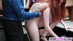 Cute Teen Krystal Nails With Horny Officer