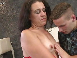 Lucky young son fucks dirty mature lady