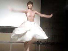 Asian topless dancer