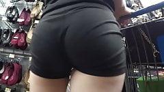 Teen Voyeur - Bubble Butt VPL Shorts Cutie