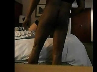Preview 2 of BBC fucks white tranny on her back