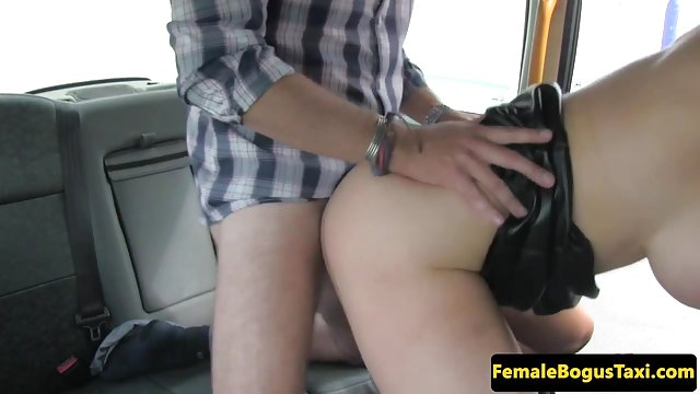 Preview 3 of British cabbie babe deepthroated and fucked