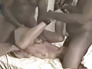 Two black fat guys fucking a white wife