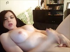 my oldest friend jerks her cock online for me