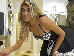Stephanie West Dresses Up as a Sexy Maid to Seduce