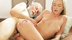 OLD4K. Shanie Ryan finally tries dick of her Geography...'s Thumb