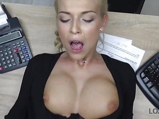 Loank Sex Casting Is Performed In Loan Office By Naughty
