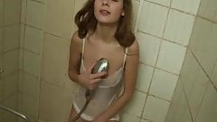 Real teen doll showering