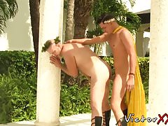 know randy buddy abusing himself after stripping having the