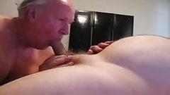 Mature men playing