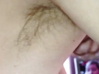 feel of her tits on my uncut cock as i enjoy her hairy pit