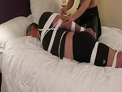 Femdom tightly hogties male's Thumb