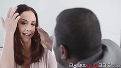 Busty Chanel Preston loves the taste of a black boner