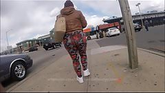 Super Huge Jiggly Insane Ghetto Black Booty Candid