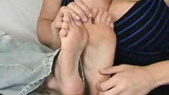 Foot tickling orgasm 1