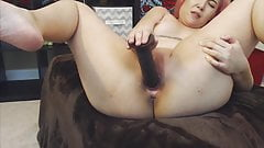 19 Asian gagging lover Elsie fucks tiny creamy pussy