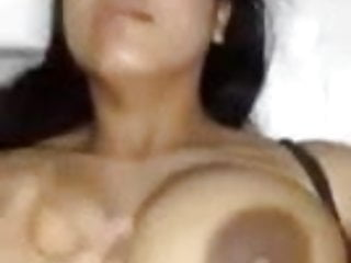 Latina with Large Nipples Squeezed and Fucked