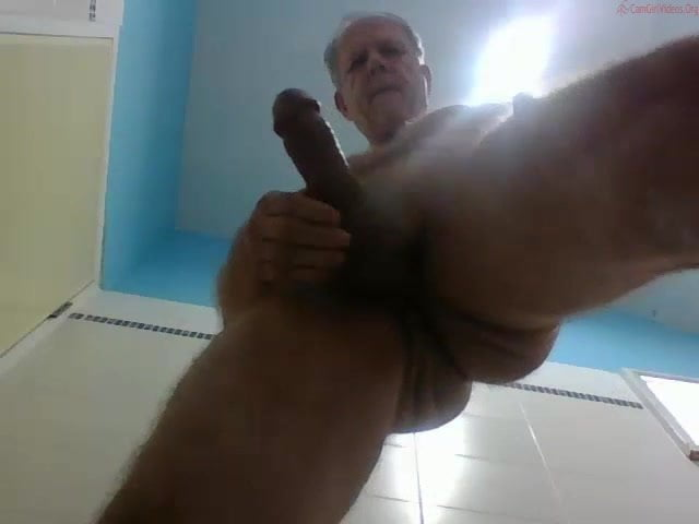 Massive dicked dad wanking 020