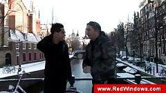 Tourist guy visiting amsterdam for having sex