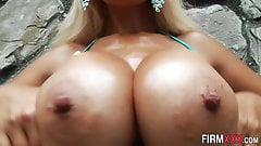 Busty cutie mouth spunked