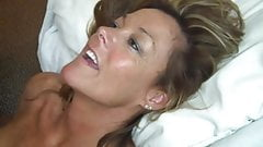 Milf receiving a BBC facial and cleaning his dick afterwards
