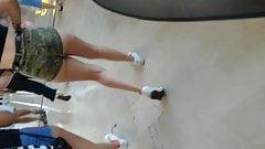 Turkish Candid Bare Ass in short shorts