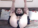 Super Hot Big Tits Blonde Plays Her Huge Cock