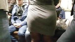 Nice BBW's ass in metro