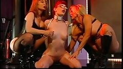 Lesbian threesome bdsm play