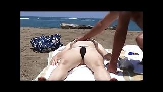 Beach - applying sun cream