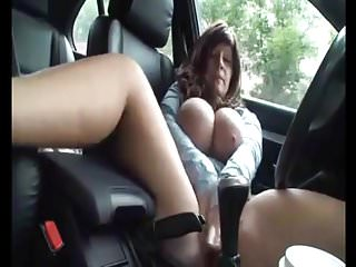Thick German BBW Playing In Car