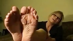 POV Yankee-American Foot JOI by an Office Blonde
