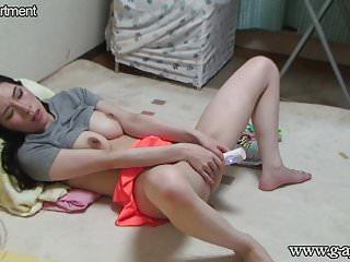 Voyeur Caught Japanese Slender Girl Masturbating in Her Room