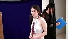 Hot teen schoolgirl humiliating enema BDSM upside down