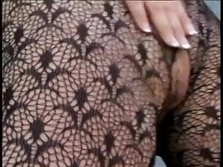 Busty babe in bodystocking has hot threesome