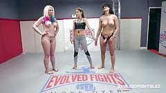 Penny Barber vs Leya Falcon in hot lesbian wrestling fight