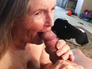 Grandma loves the taste of cum