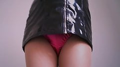 Satin Panties Latex Minidress