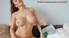 Fake boobs bitch used dildo to wet her pussy p4