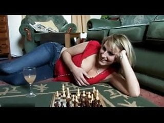Strip chess stories - Downblouse playing chess