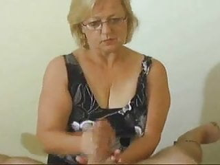 Granny Handjob  Happy Ending