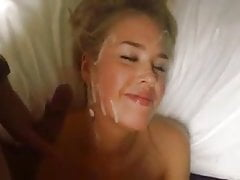 Beautiful russian Escort gets a lot of Cum!