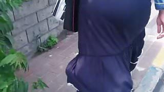 Hijab ass walking