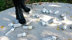 Lady y L crush crush with black boots light bulbs.'s Thumb